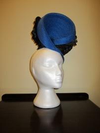 Biretta and Busby Hatmaker Headpiece - $60