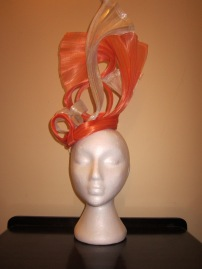 Silver and Orange Silk Abaca - $80