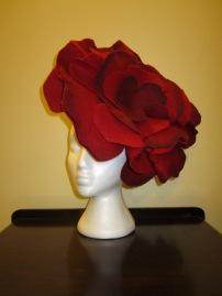 Hand dyed felt flower - $60